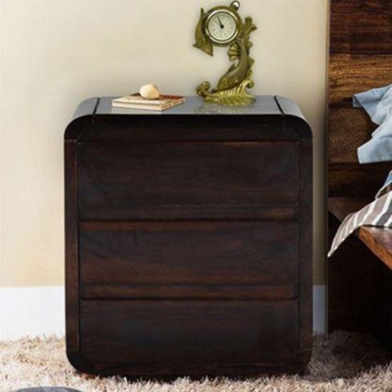 Hopper Bedside Table in Walnut