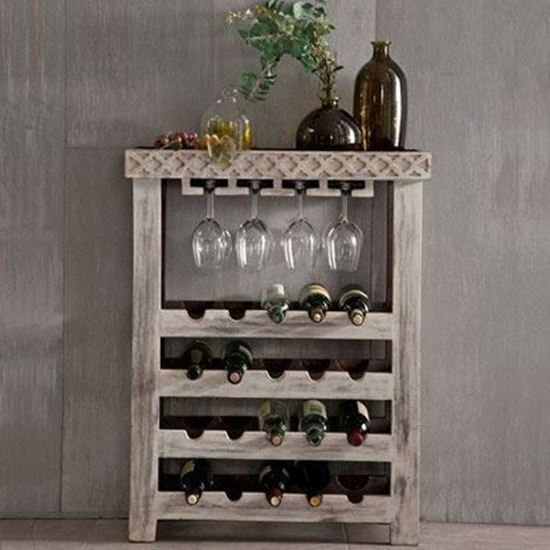 Rustic Looking Bar Cabinet