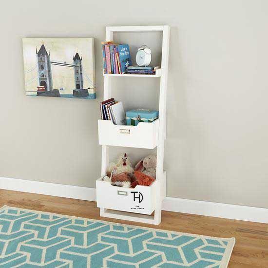 Buy Mango Wood Furniture White Wizard Kidora bookacse