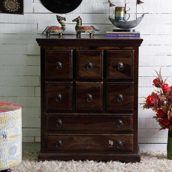 buy solid Vintage chest of drawer walnut online