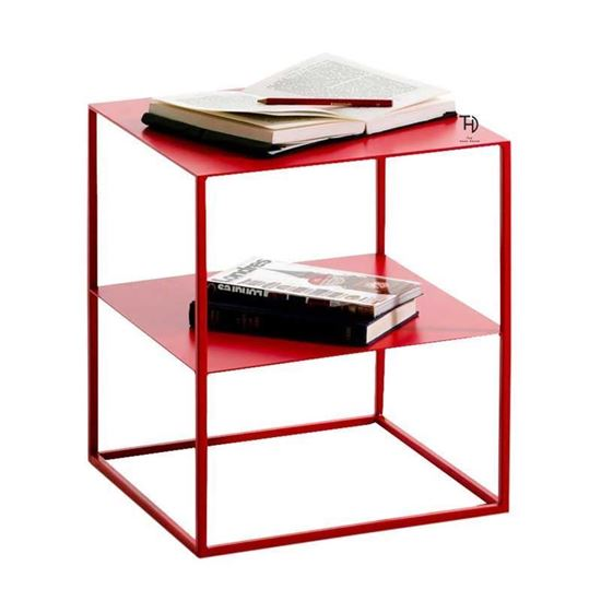Buy Furniture at Factory Price Cuber Iron End table with Shelf