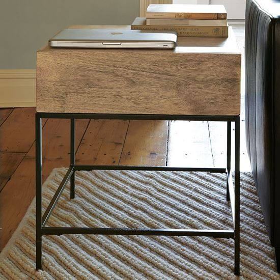 Buy Solid End with Iron Frame And wooden 1 Drawer on top