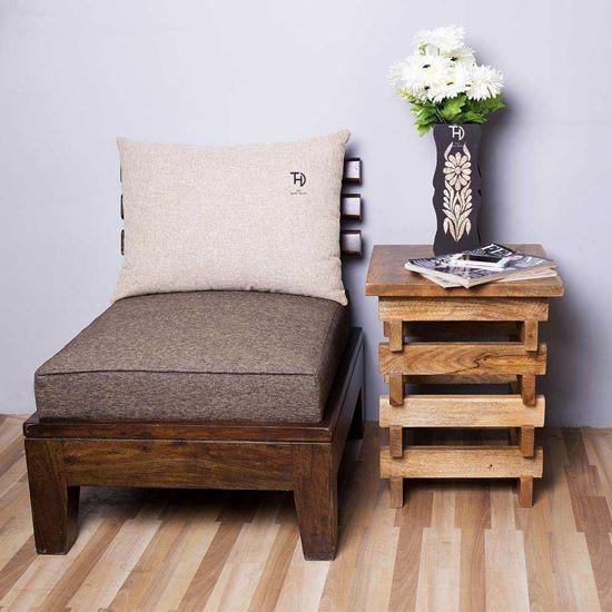 Buy Best Furniture Online Oriel Side Table in Mango Natural finish
