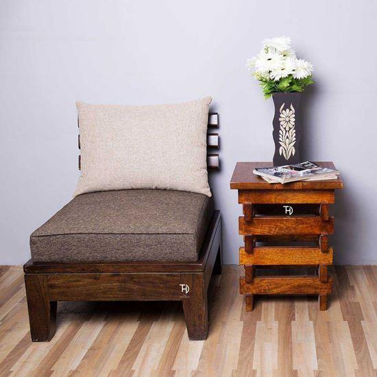 Buy Wooden Furniture Online Oriel Side Table in Honey finish