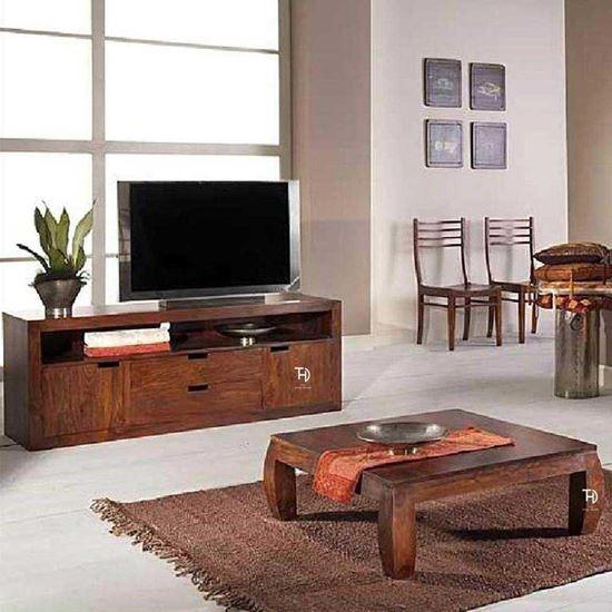 Buy Solid Wood Furniture TV Unit 2 door 2 drawers