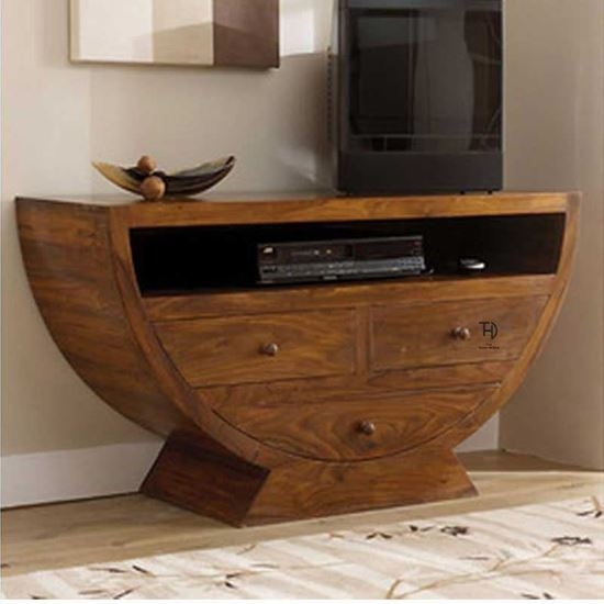 Solid Sheesham Wood Tv Cabinet by The Home Dekor