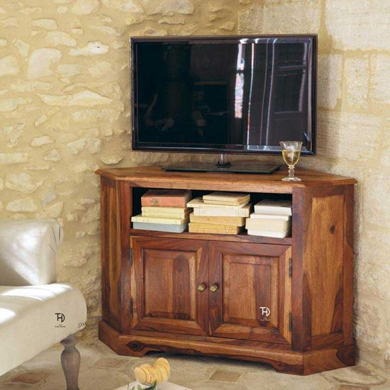 Solid Sheesham Wood Tv Unit by The Home Dekor
