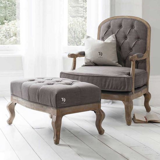 Buy Online Furniture Charles Chair with stool