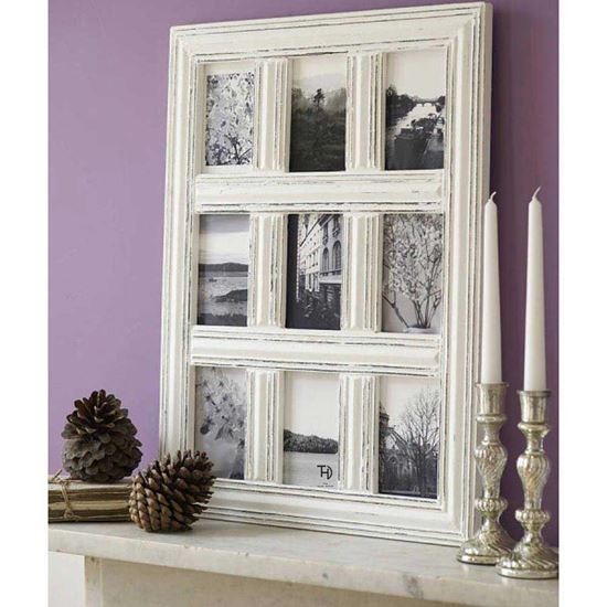 best price Rustic white Photo Frame for living room wall decor