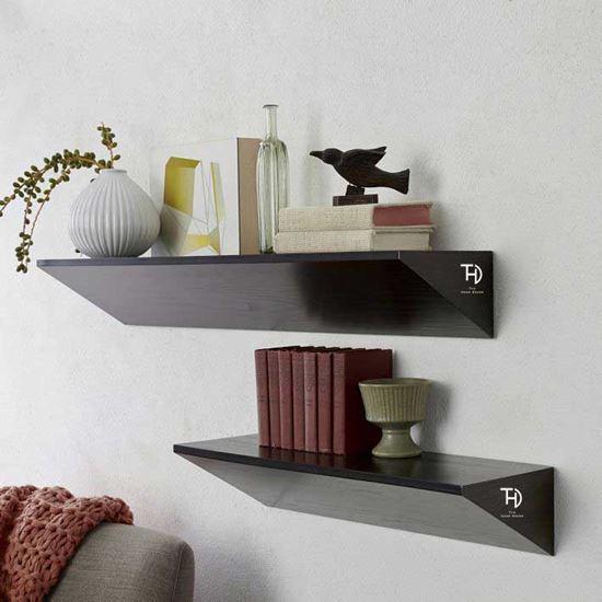 Buy best quality Trio wall rack black