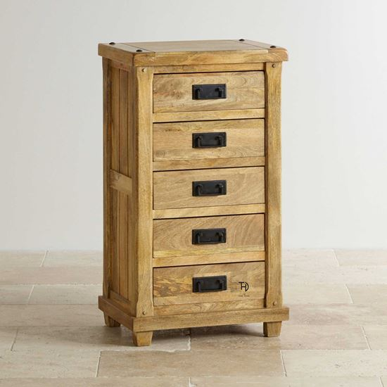 Devi chest of 5 drawer solid wood furniture