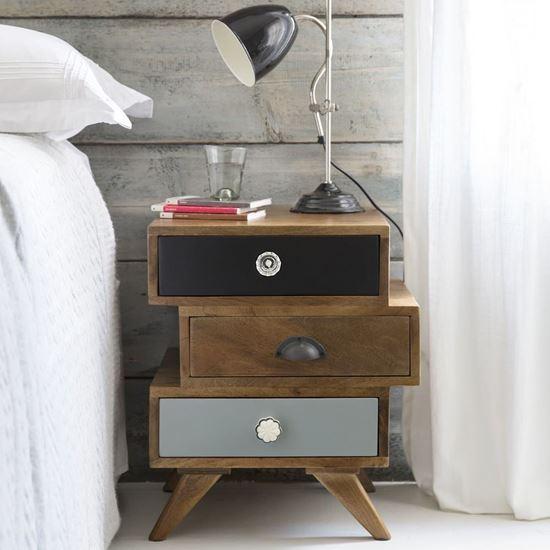 Buy Mango Wood Furniture Online Enkel solid wood bedside table