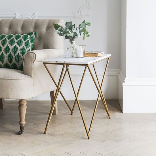 Buy Best Furniture Online Ran Marble side table for living room furniture