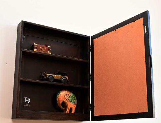 Buy Harry walnut storage mirror frame online