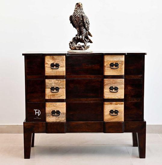 Buy best price Ran 3 drawer chest in walnut online