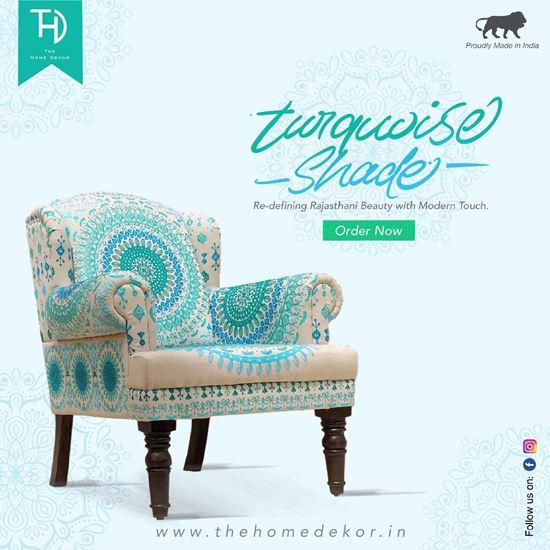 Buy Maharaja Sofa blue online