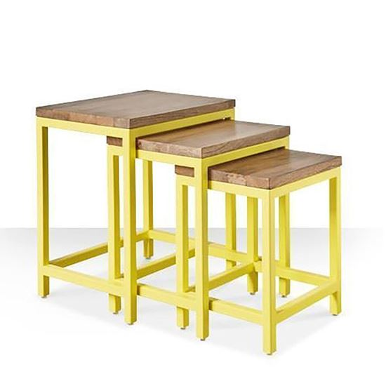 Buy Bois Nesting Table Set 3 Pcs for living Room Furniture