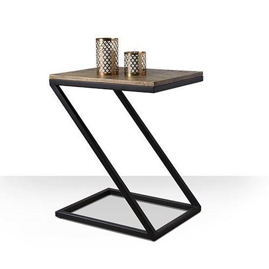 Zeed end table black for living room furniture