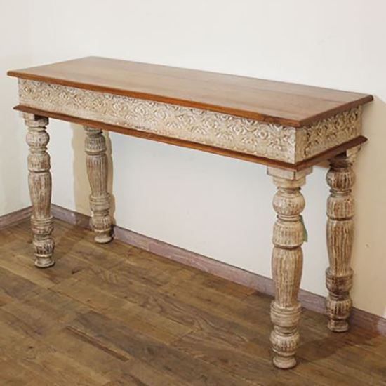 Buy Best Furniture Online Rustic white console table for living room furniture