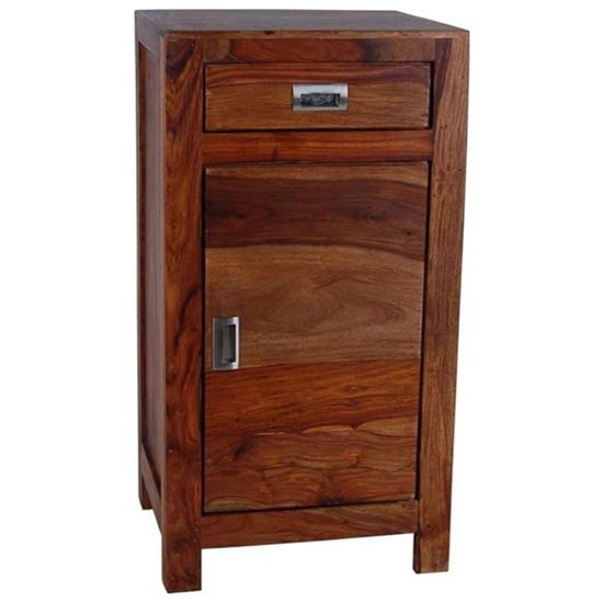 Buy Bedside Cum Cabinet with 1 Door & 1 Drawer at factory price