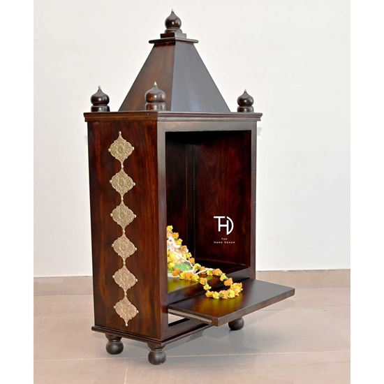 Buy Deity stand cum wooden temple for living room furniture