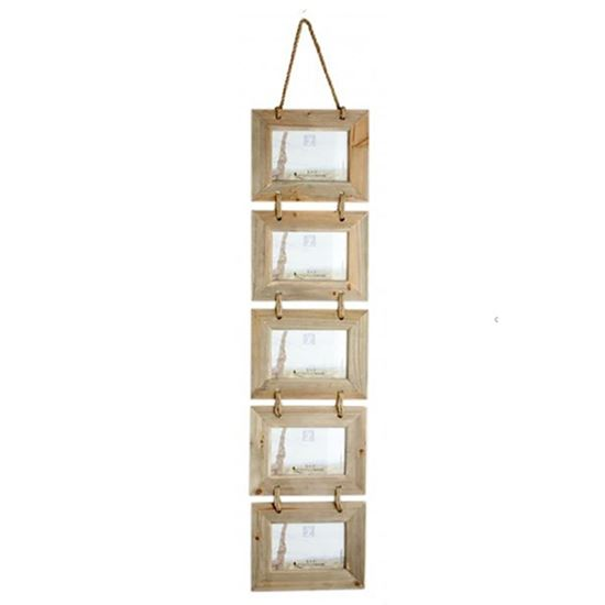 Buy mango wood Devi Photo Frame of 5 for living room furniture