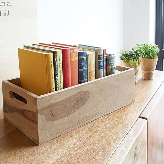 Buy Oli book rack cum wooden tray at factory price