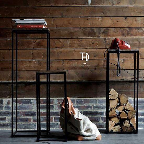 Buy Polo Stools set 3 pcs frame metal & top wooden online