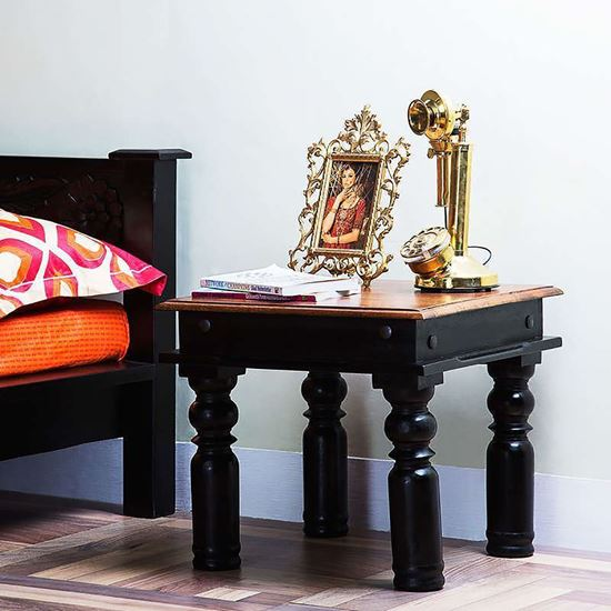 Buy Rajdhani End Table Walnut For Living Room Furniture