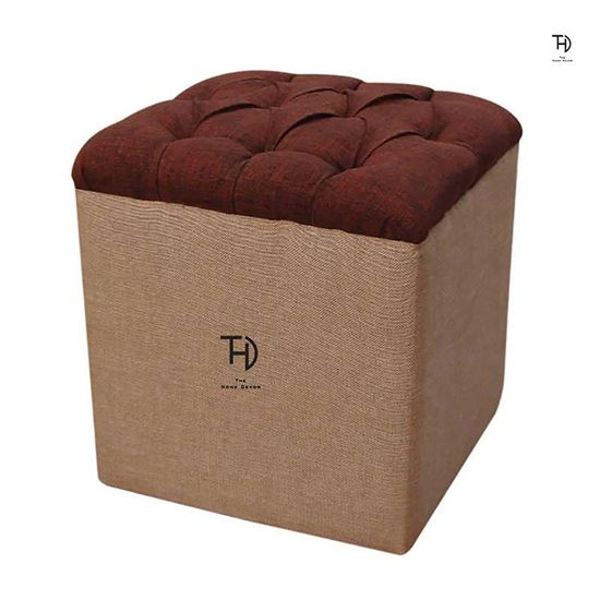 Buy Tufted Pouf for Living area furniture