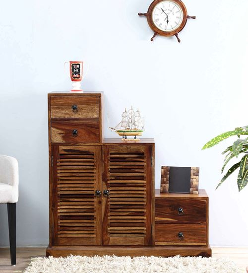 Solid wood step cabinet