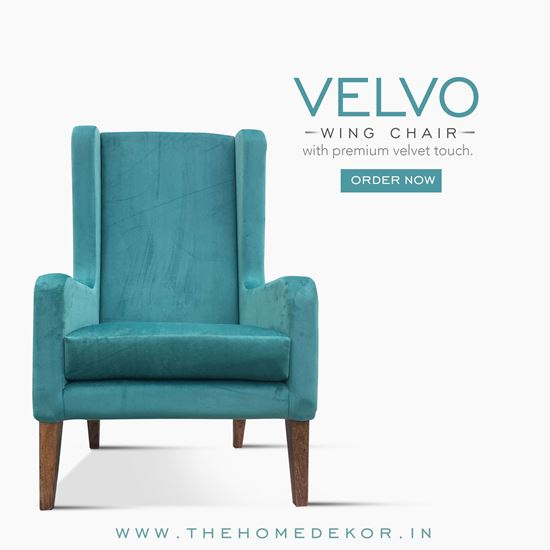 Picture of Velvo Wing Chair Online