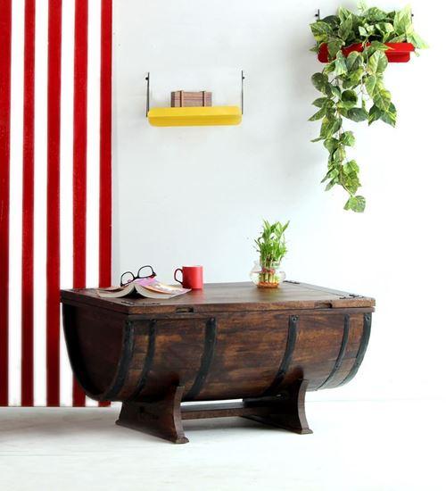 Buy Barrel Coffee table Walnut